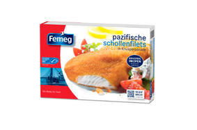 Pacific plaice fillets breaded